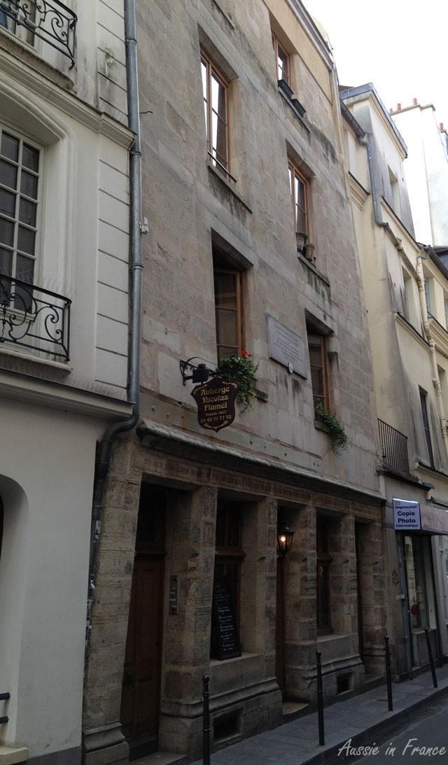 Nicolas Flamel's house at 51, rue Montmorency, the oldest known house in Paris, dated 1407