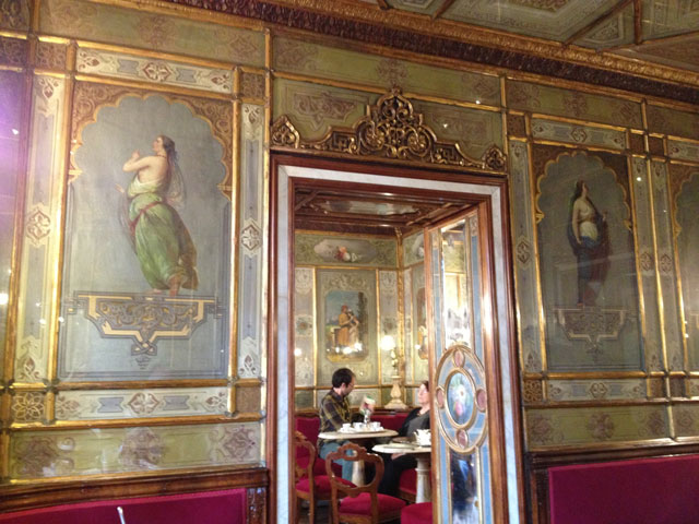 Inside decor of Caffè Florian