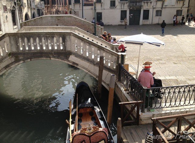 A favourite resting place for gondoliers