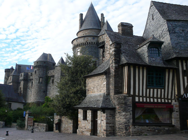 Vitré castle is one of the most imposing feudal castles in France
