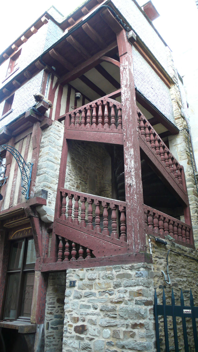 interesting outside staircase