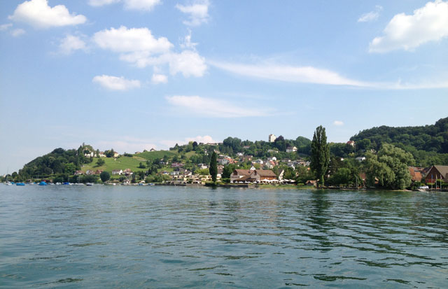 The Swiss side of Lake Constance from the ferry