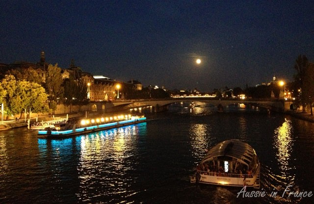 Full moon over the Seine on the way home