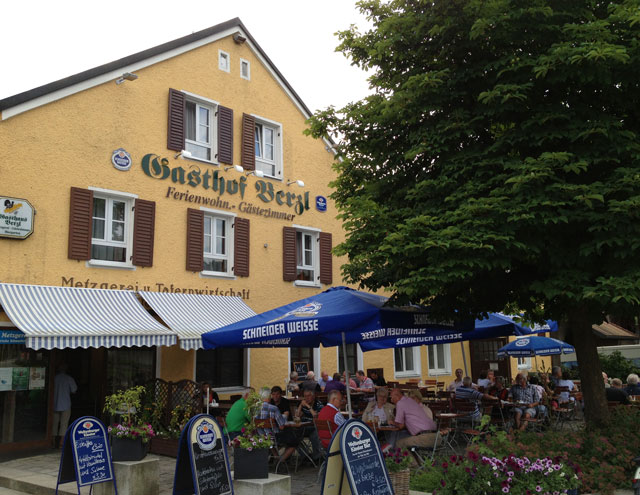 Gasthof Berzl in Kelheim - the sort of place where I like to have lunch when cycling