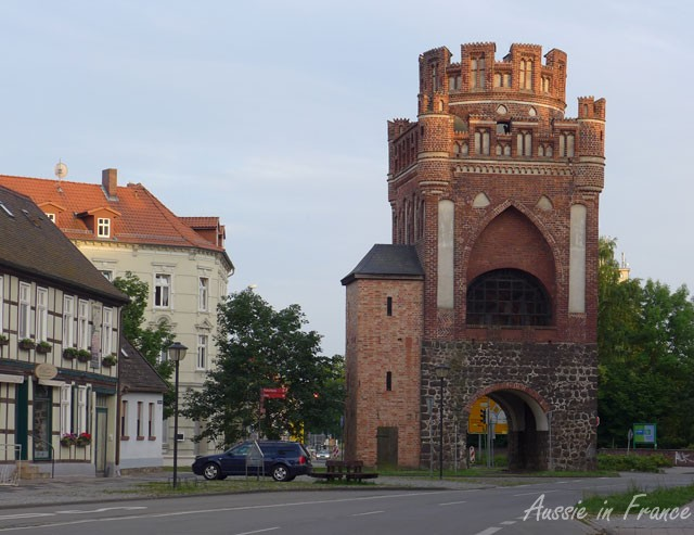 The Uengling Gate, reputedly built by masterbuilder Steffen Boxtehude ca. 1450 to 1460 is regarded as one of the most splendid late medieval town gates in northern Germany.