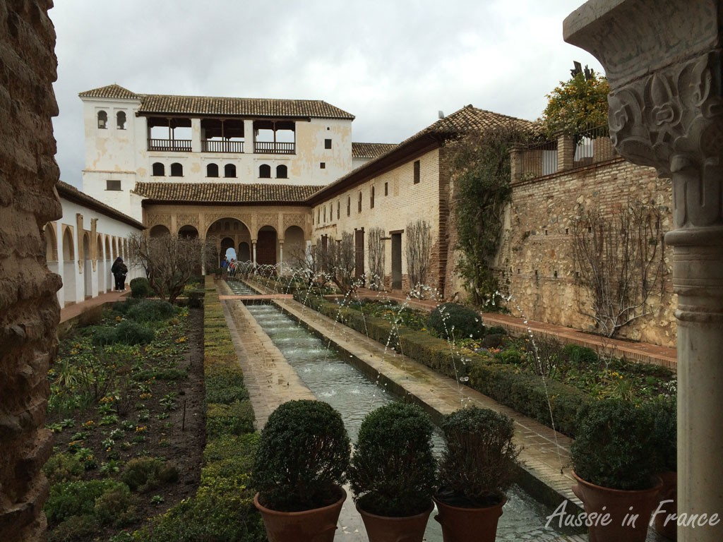 The Generalife palace and fountains