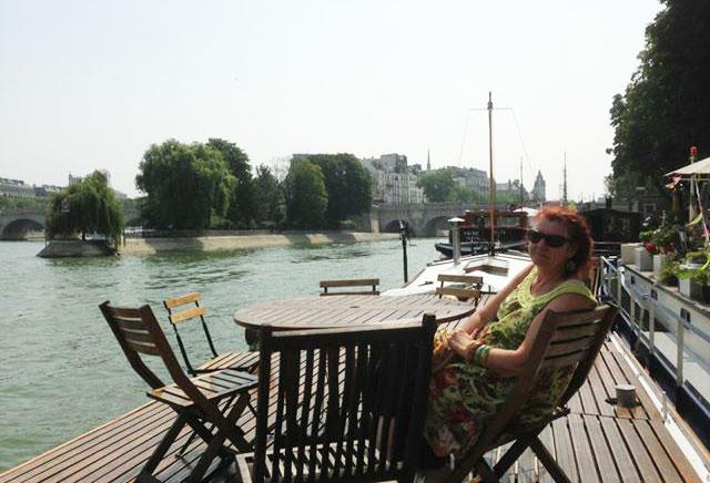 Geraldine on the deck