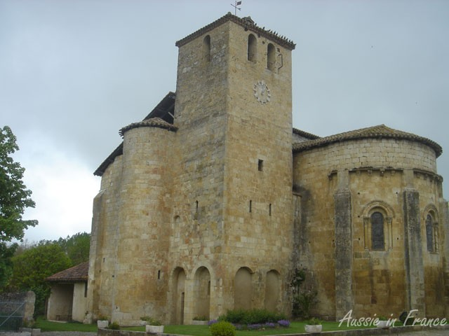 The Romanesque church of Saint-Austrégésile at  Mouchan in the south-west of France