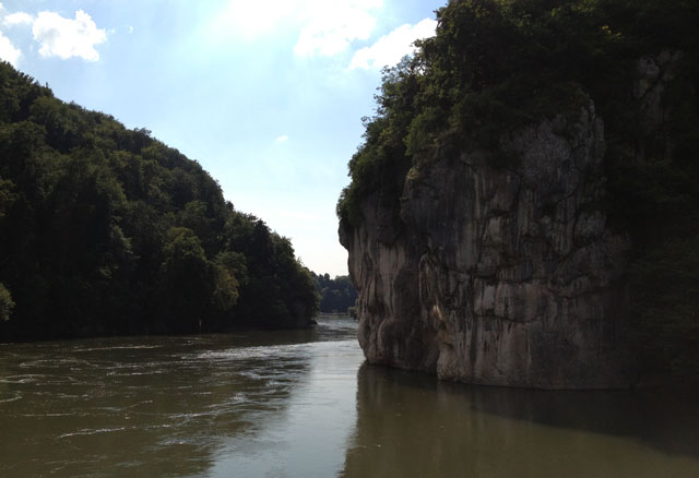 Weltenburg Narrows also called the Danube Gorge
