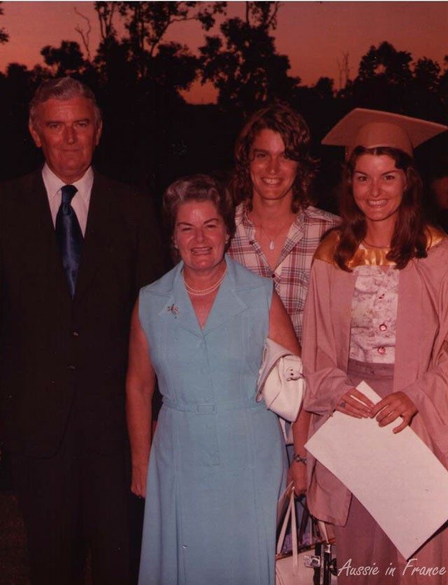 Mum at my graduation ceremony in 1975