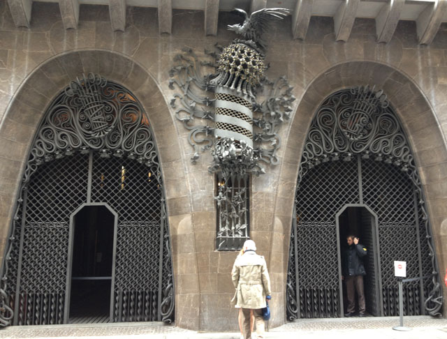 Front entrance to Guell Palace