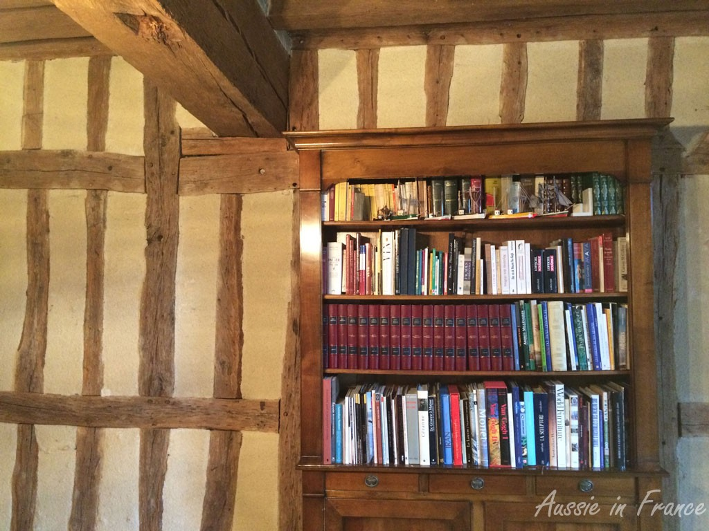 Our half-timbered walls - not easy for paintings