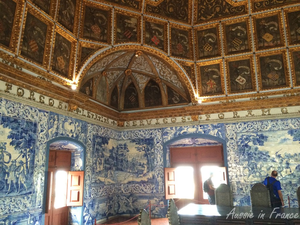 The Heraldry Room with its beautiful blue and white azulejos