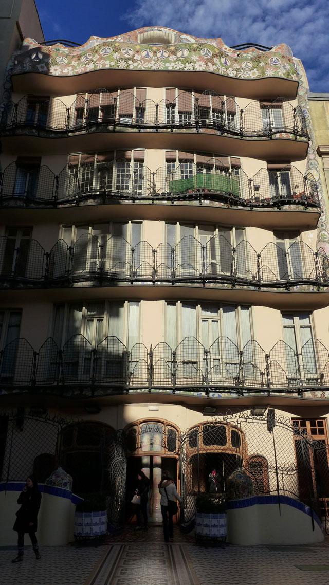 Back façade seen from terrace