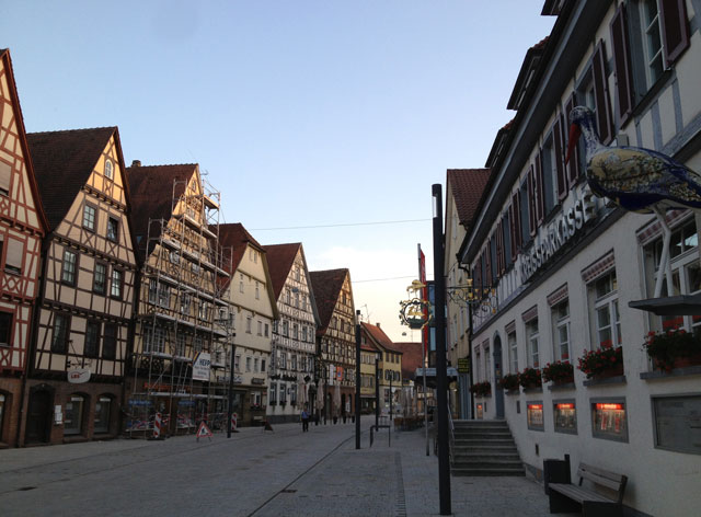 Half-timbered houses in Mengen