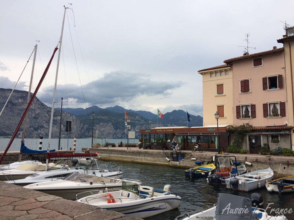 The view while eating our ice-cream - the port in Brenzone