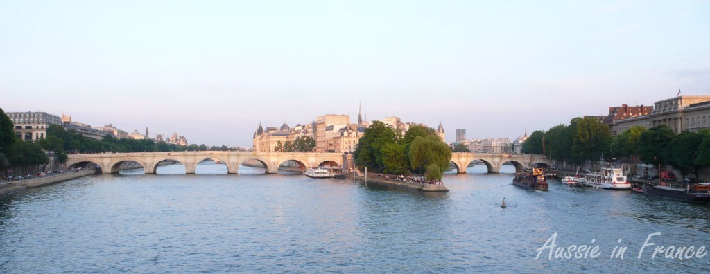 Ile de la Cité, the historical centre of Paris, in the middle of the Seine