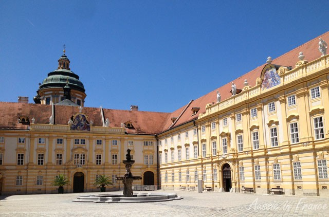 The inner courtyard of Melk Abbey