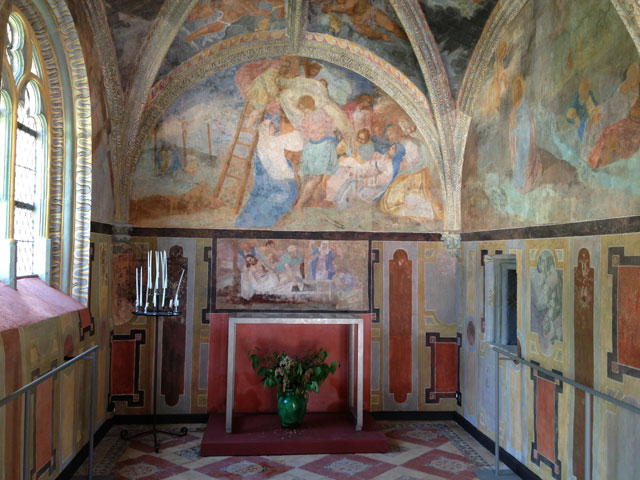 Painted chapel inside