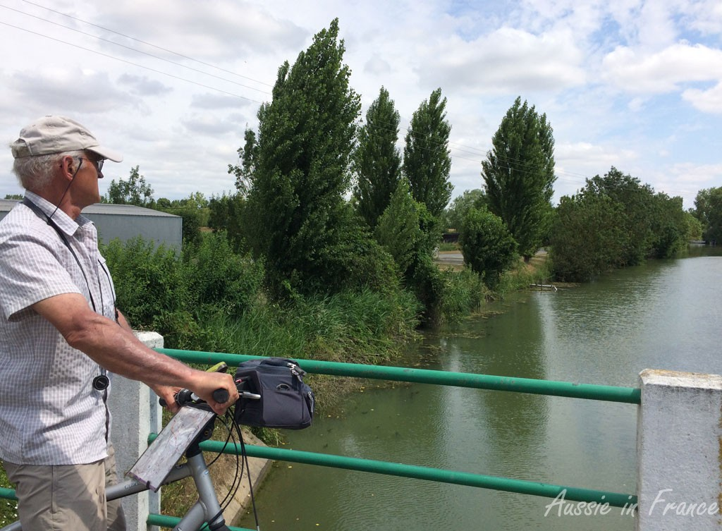 Jean Michel on a bridge over one of the canals