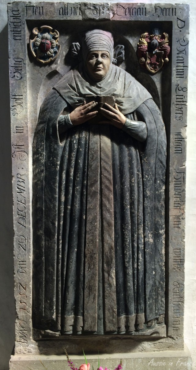 Mural tombstone of Katharina Luther