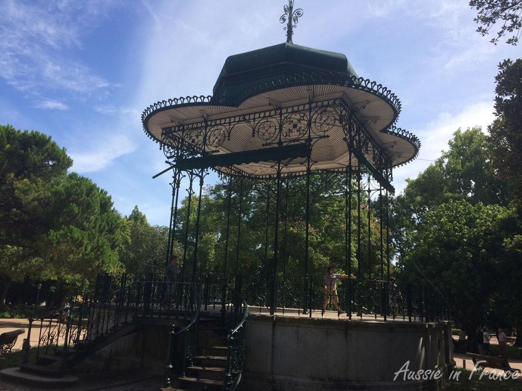 The bandstand in Estrela Gardens