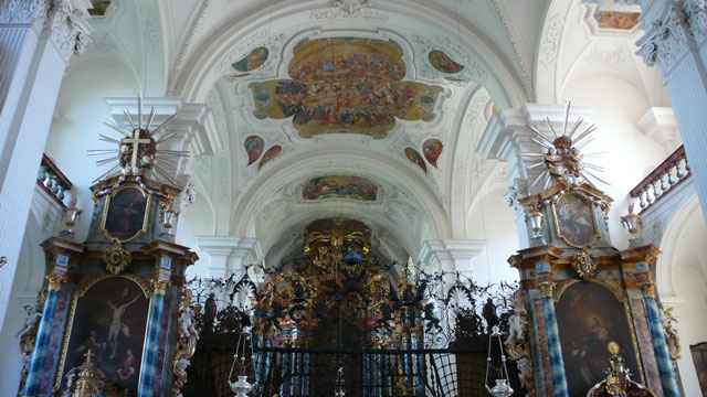 Baroque interior of Klosterkirche