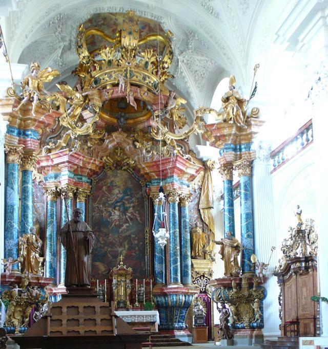 Baroque altar close up