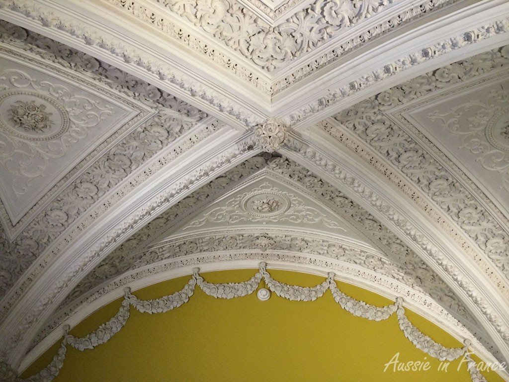 One of the beautiful vaulted ceilings inside the castle