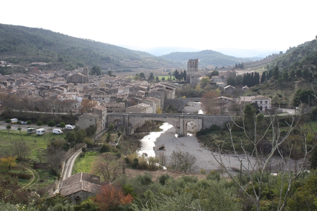 Lagrasse with the abbey in the background