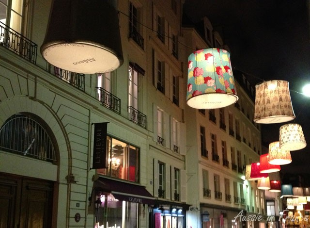 Photo of the week giant lampshades aussie in france as i turned the corner of rue aboukir the other evening i suddenly saw all these wonderful giant lampshades they were part of a soft furnishings aloadofball Image collections