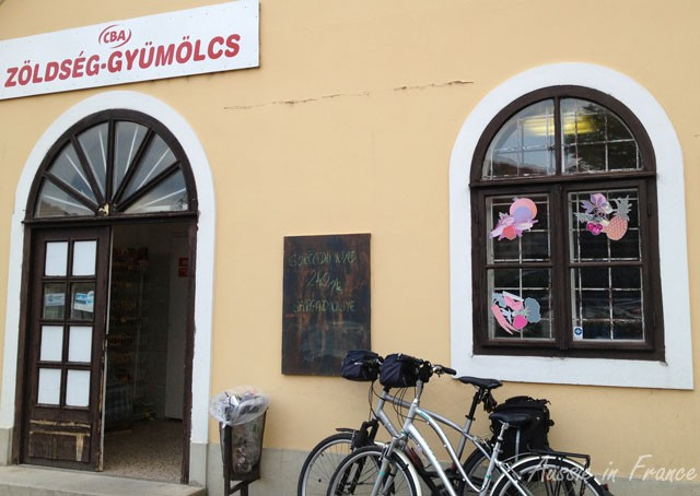 A local shop where the Hungarian owner was very helpful and friendly despite our lack of a common language