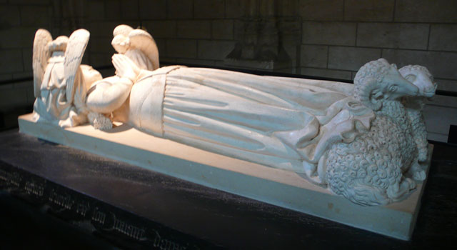 Tomb of Agnès Sorel, Charles VII's mistress, known as the Dame de Beauté (