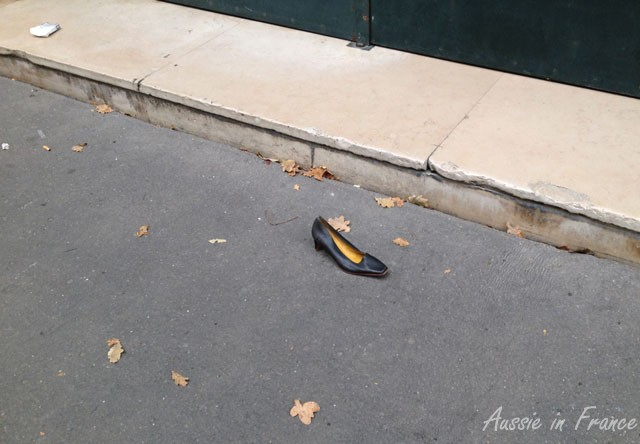 The leftover shoe next morning