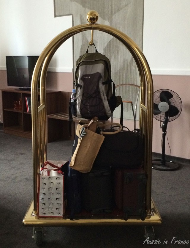 Our luggage trolley