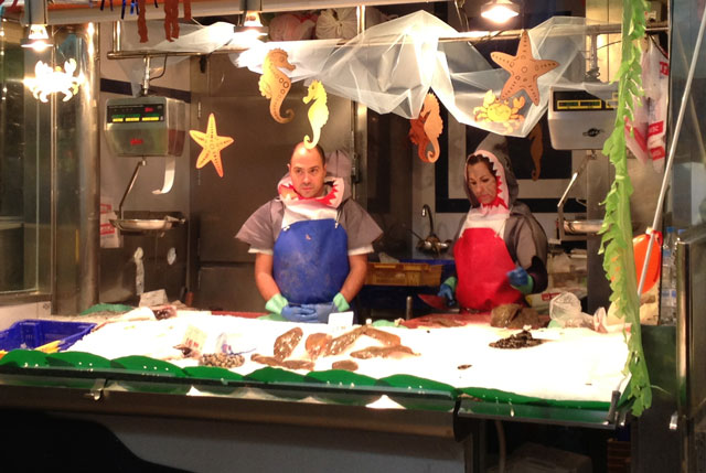 My fishmongers in Paris would never dress like this!