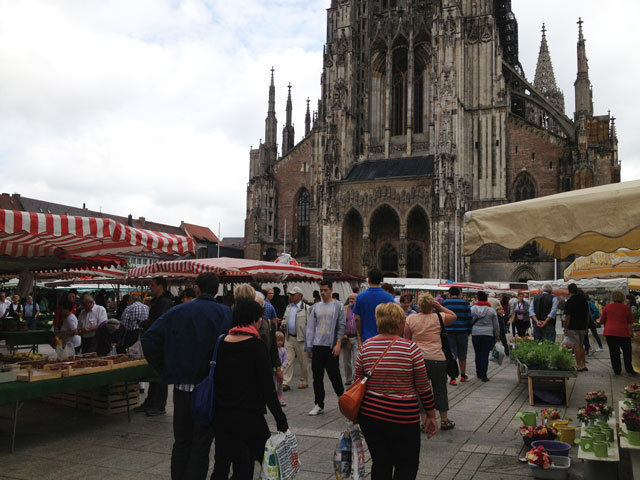 Saturday market in Ulm