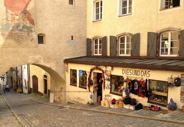 Mediaeval street in Passau