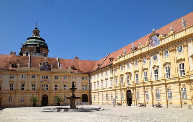 Inner courtyard of Melk Abbey