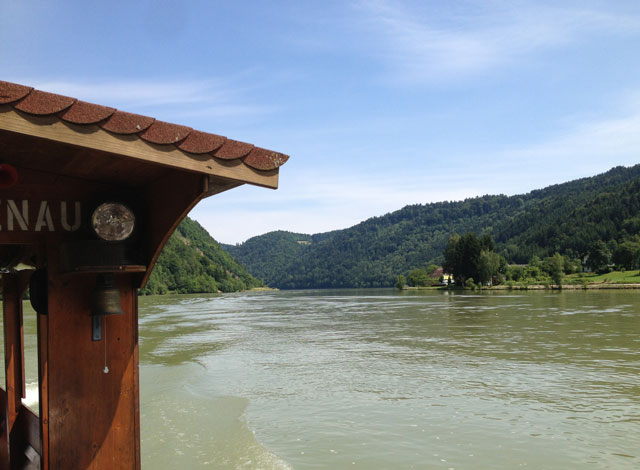From our ferry on the Danube