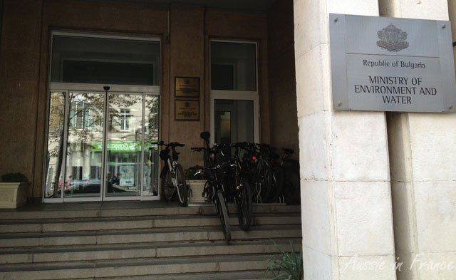 Bikes inside the Ministry of the Environment