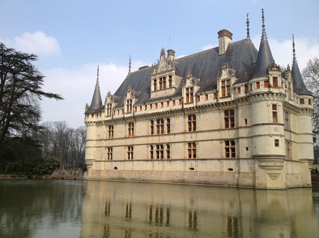 "Azay-le-Rideau reflected in the ""mirror"" moat"