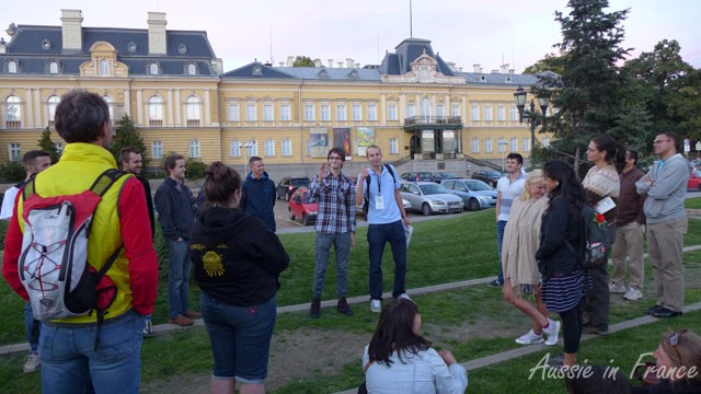 Demonstrating the rise and fall of modern Bulgaria in front of the former Tzar's Palace