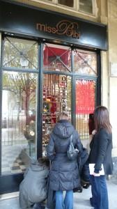 miss bibi's shop in the Palais Royal