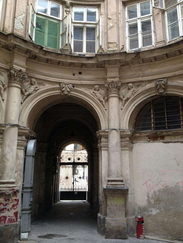 A derelict building in Bratislava