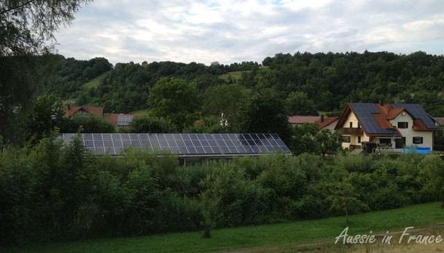 We were struck by how many houses and agricultural buildings had solare panels