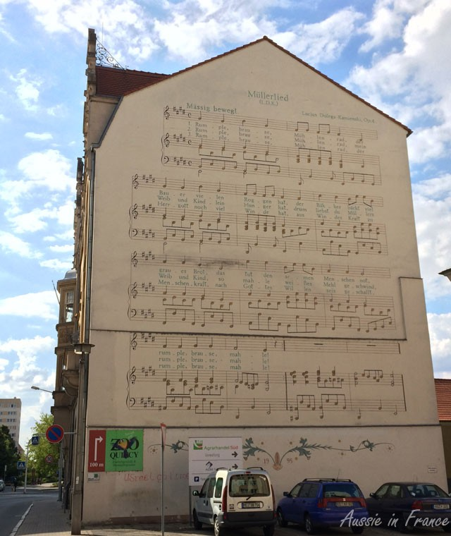 A musical wall in Riesa