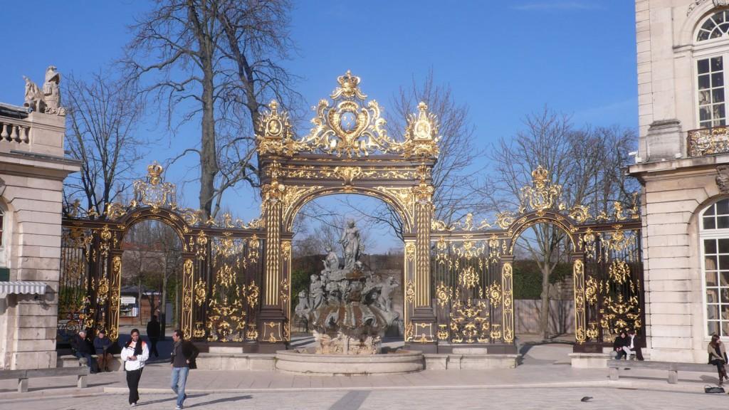 Une grille d'entrée à la Place Stanislas in Nancy