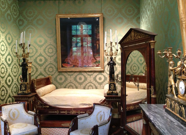 Reconstructed bedroom in the Napoleon section