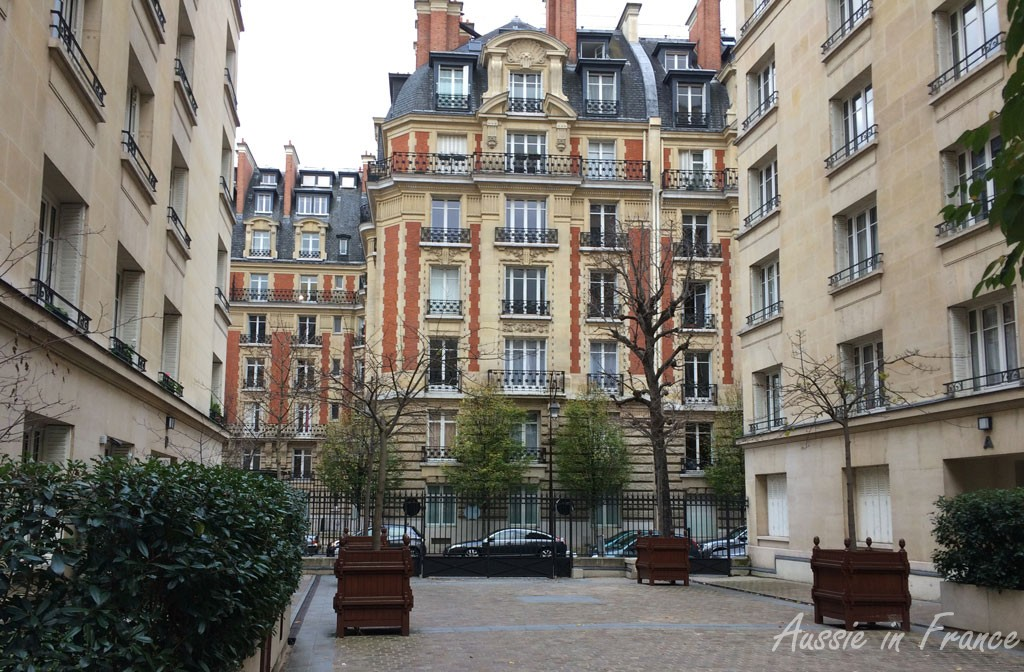 Typical apartment buildings in Neuilly sur Seine